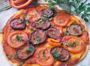 пицца с баклажанами11