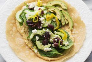 Вегетарианская начинка с хумусом и маслинами