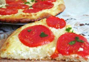 пицца с творогом