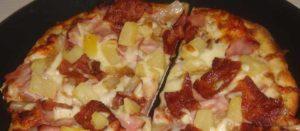гавайская пицца с ветчиной