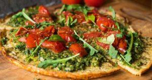 ленивая пицца с помидорками