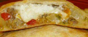 ленивая пицца в разрезе