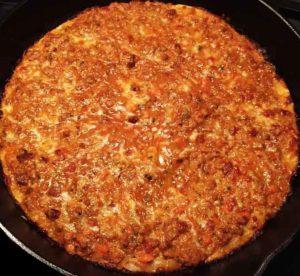 пицца болоньеза фарш жарится
