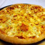 пицца с сыром в квадрате