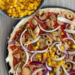 Диетическая пицца с овощами
