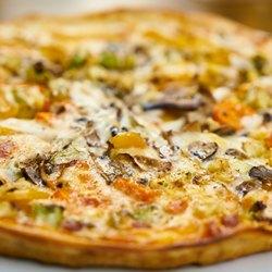 Пицца с сыром крупным планом