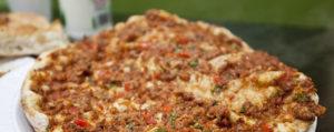 пицца с фаршем индейки