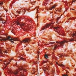 Начинка пиццы крупным планом