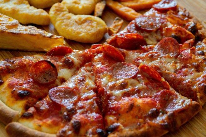 Пицца и картофель