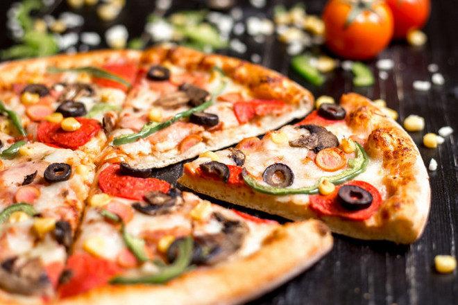 Кусочки греческой пиццы