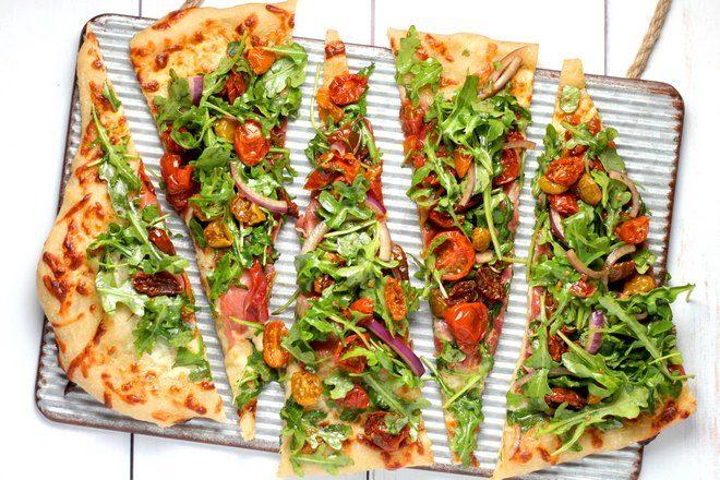 5 кусочков пиццы
