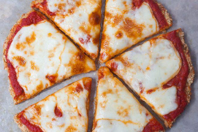 Сырная кето пицца
