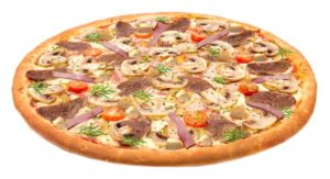 Пицца со свининой и грибами